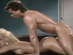 Peter North and Amber Lynn greasy 3way