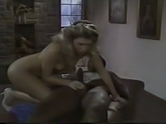 Young blonde white woman with older black man - Interracial