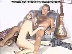 Wild group orgy on retro movie
