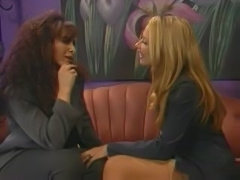 Keisha - Classic Lesbian Scene with Big Dildos.