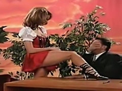 Christy Canyon fucks on a talk show