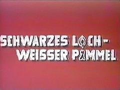 vintage 70s german - Schwarzes Loch, weisser Pimmel - cc79