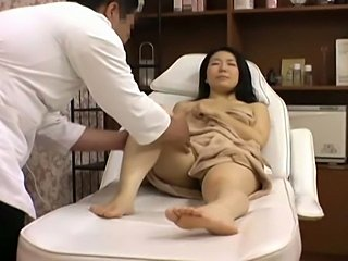 Young wife is seduced by a masseur at a beauty parlor.Filmed with Spycams