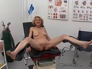 Mature granny blonde Marie  fucking with her doctor atthe clinic