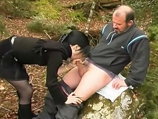 French couple started their kinky games in the natureand ends up with pissing action.