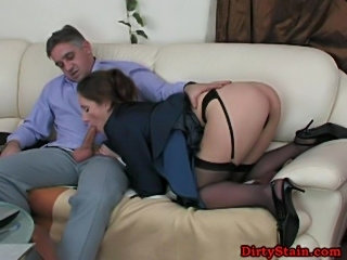 Clothed sex on the sofa  free