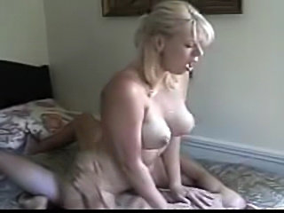 This blond lady finds the perfect partner.  He gives her a good go and then brings her to orgasm with oral.  Then she does anal ill she gets him off.  Beautiful facial finish.