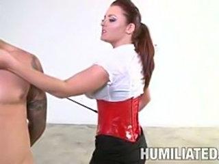 Cum slut Jackie Daniels Fucked hard and tied up!