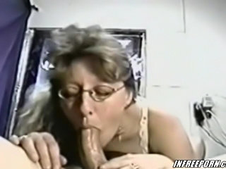 Mature Amateur Sucking His Cock