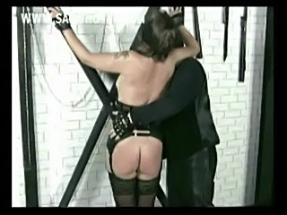 Horny older slave with clamps and heavy weights on her pussy free