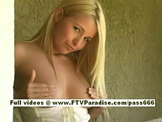 Sandy, from ftv girls, senzual blonde babe walking playing w free