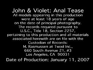 Violet and John Anal Tease