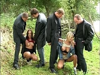 Hana Melonova & Friend - Orgy in Field DP