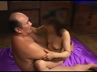 Milf with tiny tits sucking cock fucked creampie on the bed  free