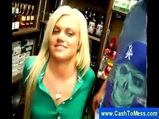 Blonde masturbates for cash  free