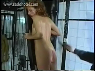 Beautiful slave with great body is spanked on her ass by ger free