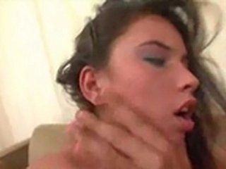 Babe in cruel orgy fuck