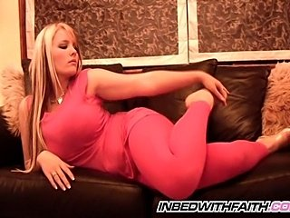 Lovely Faith in pink tights