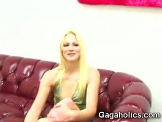 Aaliyah Jolie gags on huge cock slurping hot cum