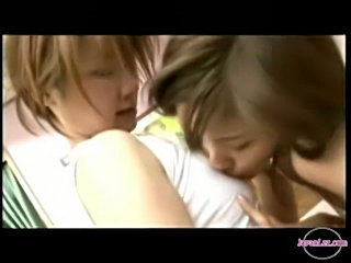 2 girls kissing passionately sucking nipples on the bed  free