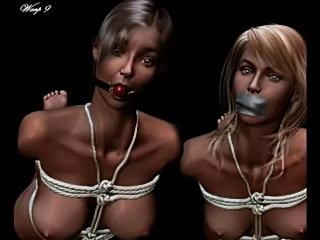 Erotic evil bondage artwork  free