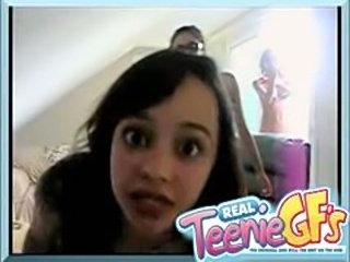 Slutty little teen girls making videos for their boyfriends on Facebook