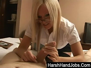 Barbie gives a harsh handjob  free