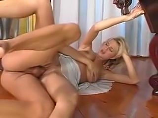 Milf in a sexy dress gets big cock in her box