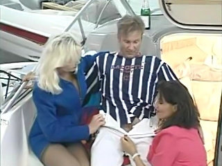 Threesome on a boat