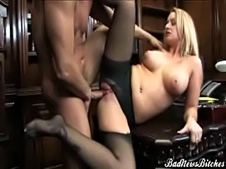 Nasty hot blonde aline brought something to the table at bad free