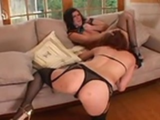 Naughty lesbians turn pussy lips out tp fist deeper