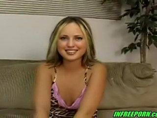 Casting porn blonde teen hottie