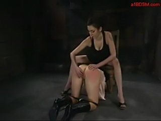 Slave girl licking mistress feets pussy and asshole stimulat free