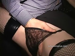 Amateur cougar ann squirts all over herself in public  free