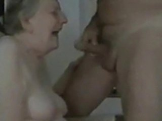 Sweet granny having fun with her old servant