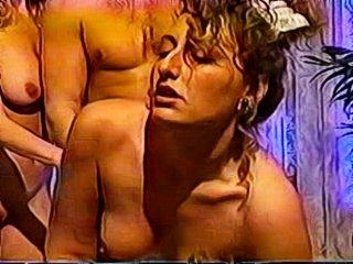 Nikki Sinn getting rammed in the ass in a bath tub threesome!