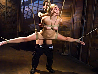 Sexy Fetish slave suspension and punishment