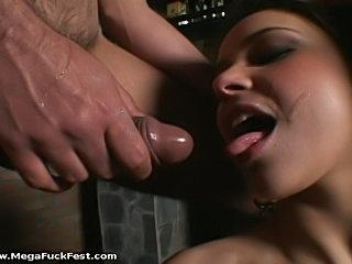 Sick Brazilian women taking piss mouth.