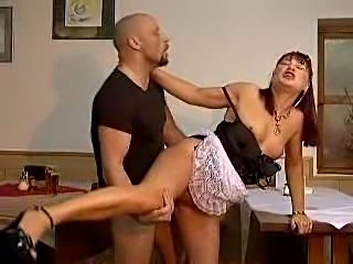 The hot mature maid makes him feel so good