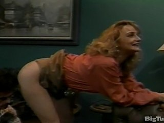 Rebecca Bardoux anal sex from behind office vintage classic blonde