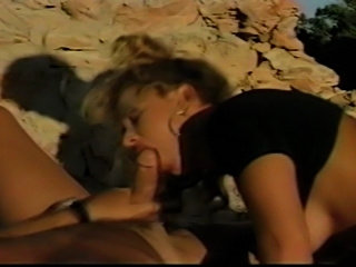 Johnni Black in a hot outdoors interracial double penetration fuck.