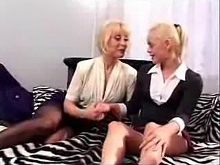 Nina Hartley helps dyke to delight strap on dildo