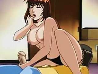 Big booty hentai girl fucks all the way