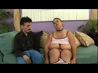 Fatty gives up her pussy to horny guy
