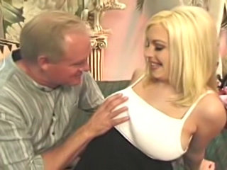 Hottest blonde squeezing some milk and then get plowed
