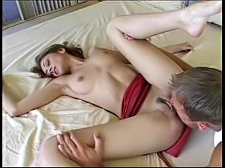The full scene featuring Luna Lane in her first boy/girl scene on camera including her taking a warm creampie.