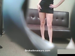 Red haired amateur casting video