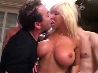 Guys gangbang the hot mature blonde