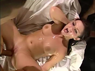 Tons of facials dripped on the cock slut