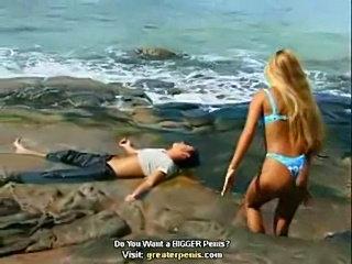 Blonde fucks on the beach  free